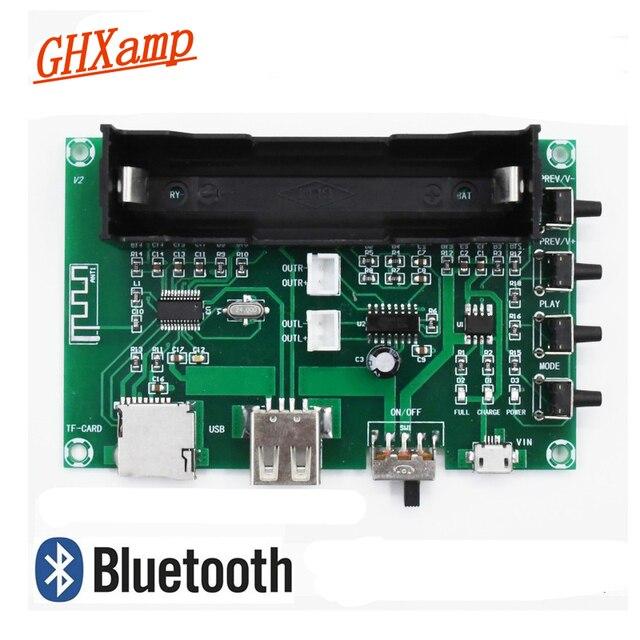 GHXAMP PAM8403 بلوتوث مكبر الصوت مجلس 5 واط * 2 بطارية ليثيوم الغناء آلة USB TF بطاقة ثنائي القناة المتكلم مصغرة DIY