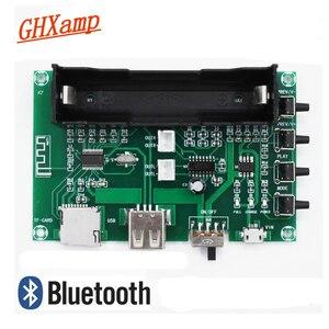 Image 1 - GHXAMP PAM8403 Bluetooth Amplifikatör ses Kurulu 5 W * 2 Lityum Pil Şarkı Makinesi USB TF Kart Çift Kanal mini Hoparlör DIY