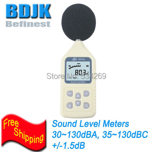 ФОТО 30dB to 130dB  Digital Sound Level Meters with Free shipping Sound Level Measurement Tester