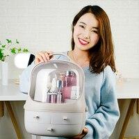 QMJHVX Acrylic Plastic Makeup Organizer Bathroom Cabinet Drawer Cosmetic Storage Box Make Up Lipstick Jewelry Cosmetic Organizer