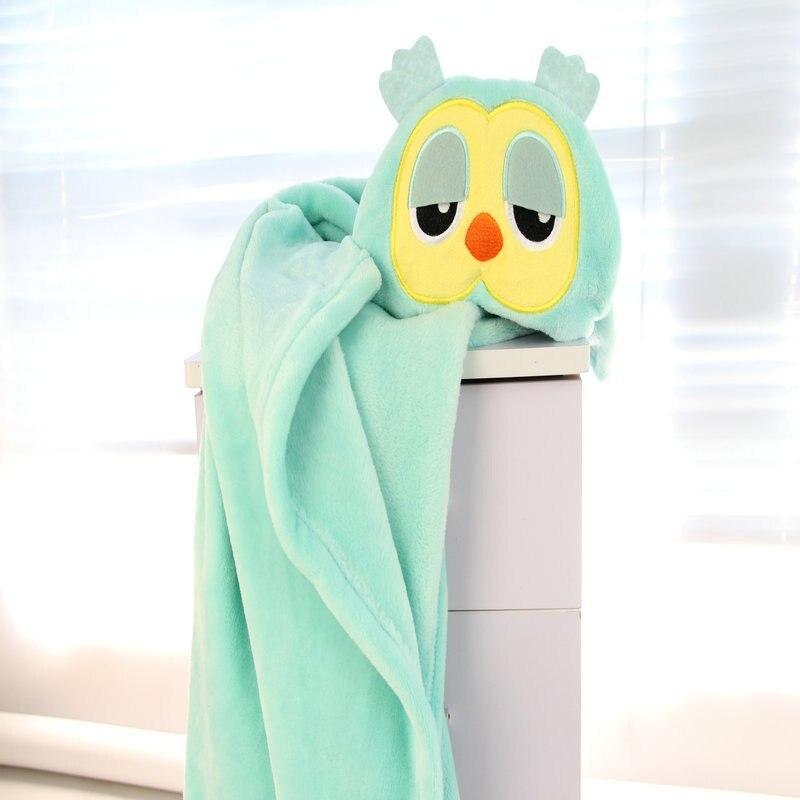 100*75 Cm Baby Flannel Hooded Bathrobe Cartoons Animal Boys Girls Bath Towel Kids Cloak Robe Towel Blankets High Quality