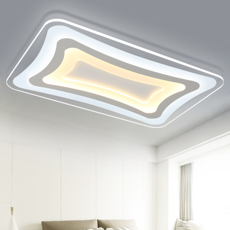 ФОТО Ultra-thin Acrylic Living Room Bedroom Balcony Modern Led Ceiling Lights AC 85-265V Lustre Luminaria Led Ceiling Lamp Fixture