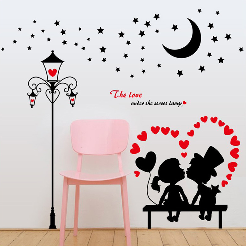 Aliexpress Buy Cartoon Romantic Lovers Street Light