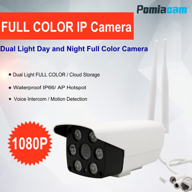 HD 1080P Wifi IP Camera 2MP Waterproof Outdoor Day Night Full Color Night Vision Security Camera Infrared Bulllet Camera A7 sucam 1080p night vision 2mp cctv camera ip network wired waterproof outdoor infrared full hd ip camera for house security