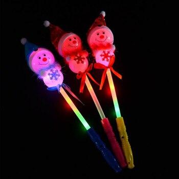 luminous toys Glowing Stick Christmas cartoon Little snowman Glow Stick Light Stick Lights Wedding Party Supplies Decoration