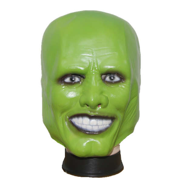 X merry the mascherina verde maschera jim carrey film vestito latex full head for halloween - Masque halloween film ...