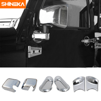 SHINEKA Auto ABS Exterior Side Rear View Rearview Mirrors Cover Trim For Jeep Wrangler JK 2007 2016 Car Accessories