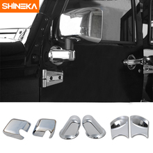 SHINEKA Auto ABS Exterior Side Rear View Rearview Mirrors Cover Trim For Jeep Wrangler JK 2007-2016 Car Accessories
