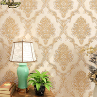 beibehang European Damask Wallpaper rolls Modern Luxury Relief floral Wall Paper Roll Living room home improvement TV background