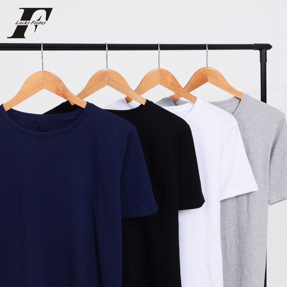 LuckyFriddayf Fashion 100% cotton Solid color T-Shirt Men/women Summer Classic Soft casual T shirt with Street plus size XXXXL
