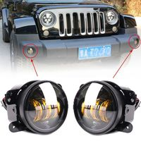 2PCS 4inch 30W LED Round Fog Light Projector Driving Lamp For Jeep Wrangler JK TJ LJ