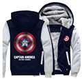 Winter Thicken Unisex Hoodie Captain America Shield Logo Men Women Cosplay Zipper Jacket Sweatshirts Coat
