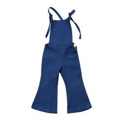 Новый модный сарафан без рукавов для маленьких девочек, джинсовый Рабочий Комбинезон, джемпер, брюки нижнего белья, летняя одежда