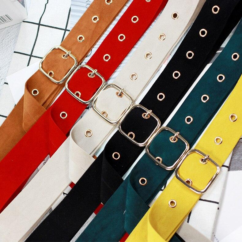 Ретро Бархат квадратная пряжка декоративный пояс для талии корсет Omen для девочек пояс для женщин платье джинсы брюки