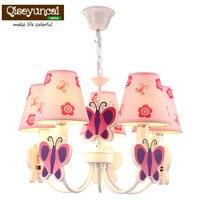Qiseyuncai Children's room cute cartoon led chandelier girl room princess bedroom creative warm lighting free shipping