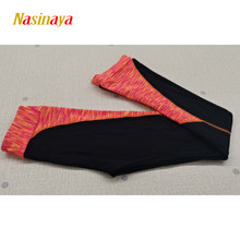 Customized Figure Skating Pants Long Trousers For Girl Women Training Competition Patinaje Ice Skating Warm Gymnastics Colorful(China)
