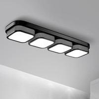 Popular living room Ceiling Lights bedroom plafon led lamp luminarias home decoration black/white acrylic shade lampada