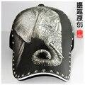 2015 mais recente venda boné de beisebol masculino personalidade fashion snapback padrão elefante hat gorras