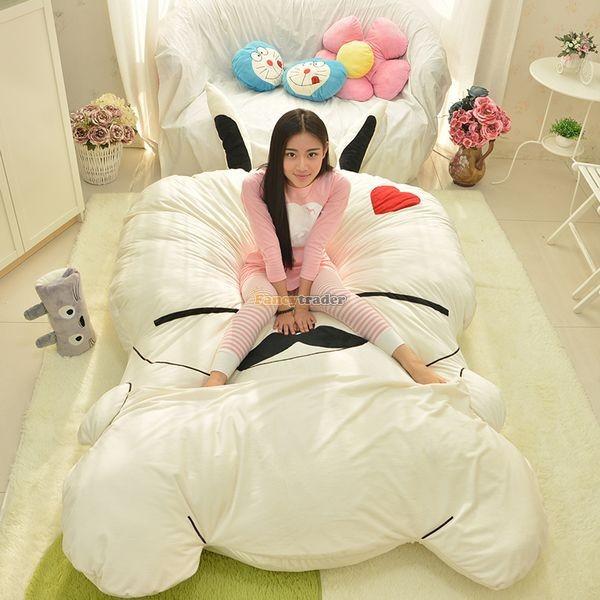 Fancytrader 270cm X 160cm Giant Soft Plush Stuffed Double Size Rabbit Bunny Mattress Carpet Tatami Bed, FT50680 (1)