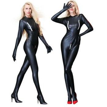 GNDHICL Sexy Lingerie Black PVC Faux Leather