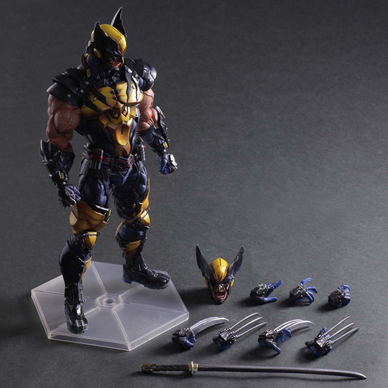 C&F 26 CM Wolverine With Claws Action Figure Doll Toys Model Anime Cartoon Version PVC Cosplay Collection Toy 1 6 scale figure doll comic version wolverine 12 action figures doll collectible model toy soldiers