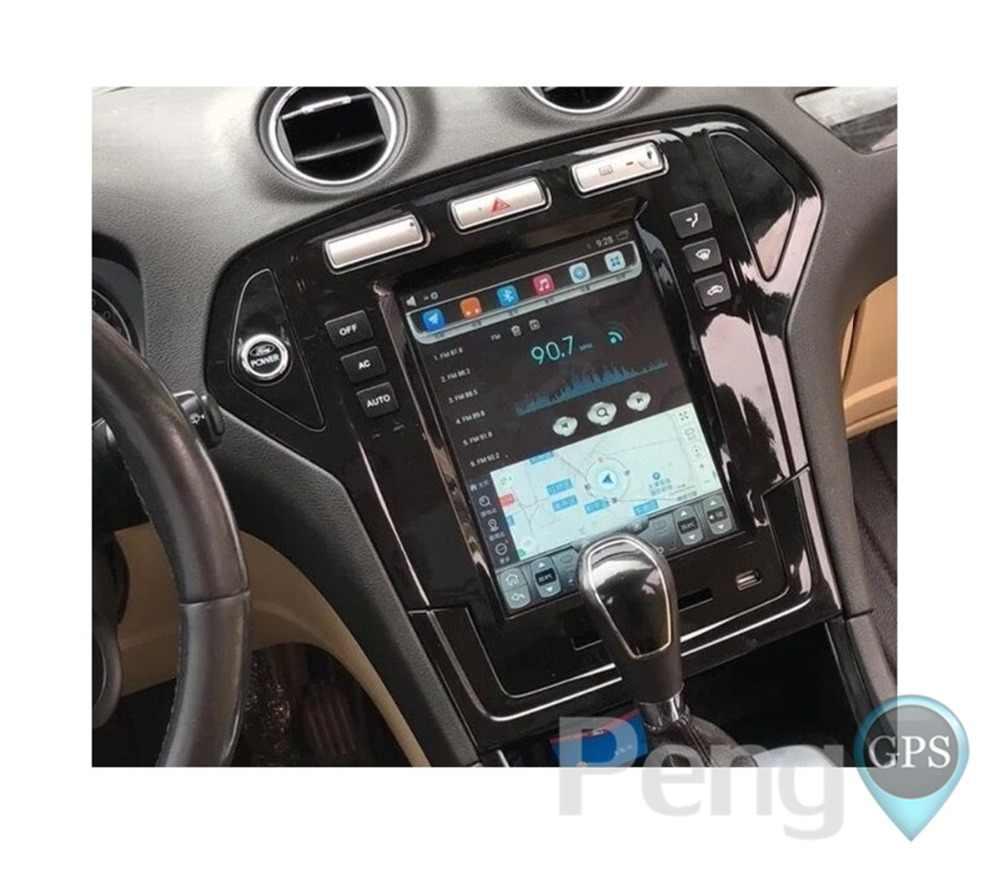 """10,4 """"ips вертикальный Экран Android автомобильный gps DVD проигрыватель с навигационной системой для Ford Fusion Mondeo 2007 2008 2009 2010 два Din автомобильная стереосистема"""