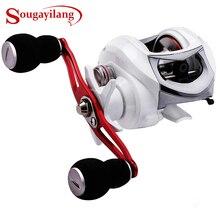 Sougayilang 18+1BB Fishing Reel Strong Drag Power 10kg White/Black Right/Left Handed Carp Fishing Wheels Fishing Tracking Pesca