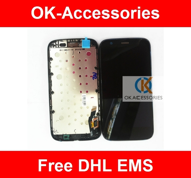 Black Color For Motorola G XT1032 For Moto G LCD Display+Touch Screen Digtizer Assembly With Frame 10PCS/Lot