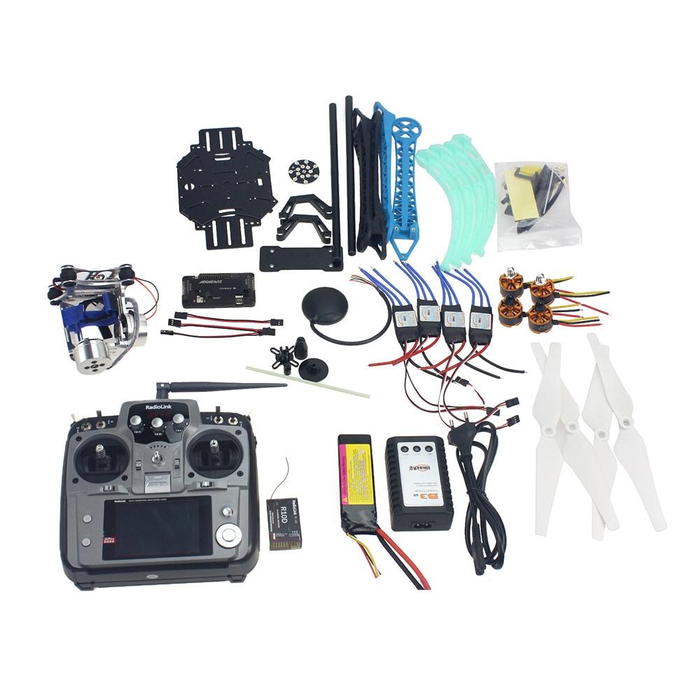 JMT  Full Set RC Drone Quadrocopter 4-axis Aircraft Kit 500mm Multi-Rotor Air Frame 6M GPS APM2.8 Flight Control 2-axis Gimbal jmt diy drone f550 multi rotor full kit 1045 3 props 6 axle rc multi hexac
