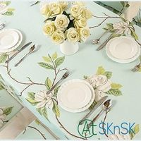 Home Waterproof Cloth Tablecloth Fabric Oilproof Pad Anti Hot Rectangular Coffee Tablecloths Tea Table Cover Chair