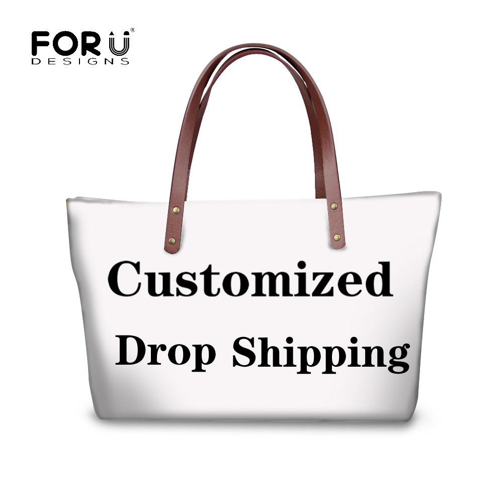 FORUDESIGNS 3D Customized With Own Logo Women Custom Products For Birthday Gift Large Handbags Tote Casual Feminine Shoulder Bag