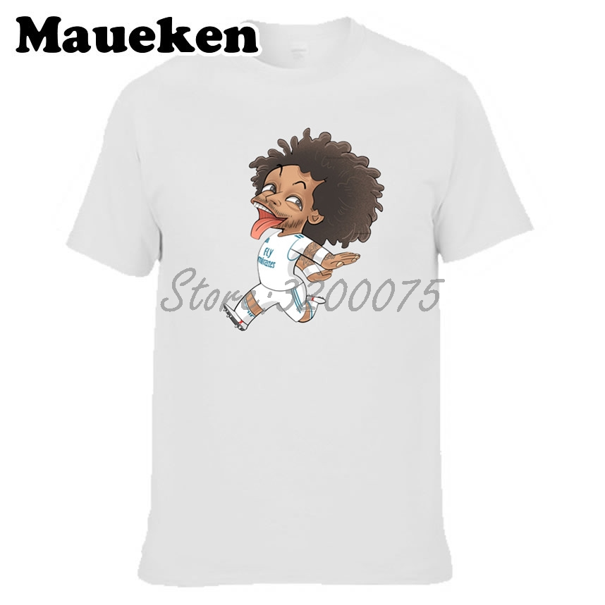 separation shoes 4bb20 591ec US $18.88 |Men Marcelo Vieira da Silva Junior 12 real clown captain T shirt  Clothes T Shirt Men's o neck tee W18042702-in T-Shirts from Men's Clothing  ...