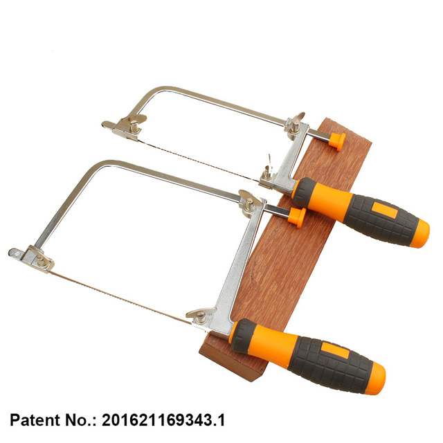 New patent woodworking adjustable rubber handle coping saw frame new patent woodworking adjustable rubber handle coping saw frame with 5pcs blades greentooth Gallery