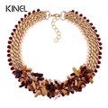 Kinel Brand Top Vintage Jewelry Fashion Hand Woven Natural Crystal Stone Choker Necklace For Women New 2016