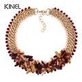 Kinel marca top vintage joyería de moda tejidas a mano de piedra natural cristal choker collar para las mujeres nuevo 2016