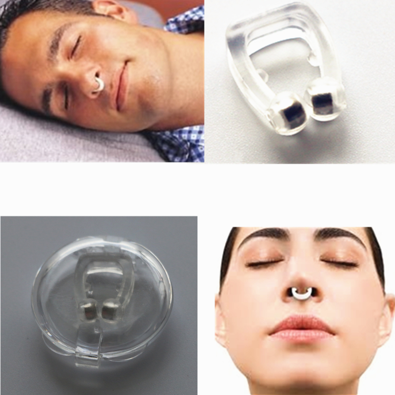 5pcs/lot Hot Selling Anti Snoring Silicone Nose Clip Magnetic Stop Snoring Nose Clips Anti-Snoring Apnea Sleeping Aid Device 1