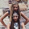 Fashion Vintage Head Chain Headband Hair band Hair Jewelry Flower Tassel Forehead Headpiece Hair Chains For Women