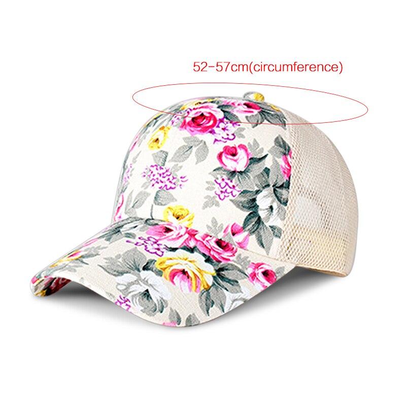 Kakaforsa Женщины Цветок Печати Хлопка Бейсболки Летом Стиль Хип-Хоп Snapback Шляпы Высокое Качество Casual Цветочные Сетки Шляпа От Солнца