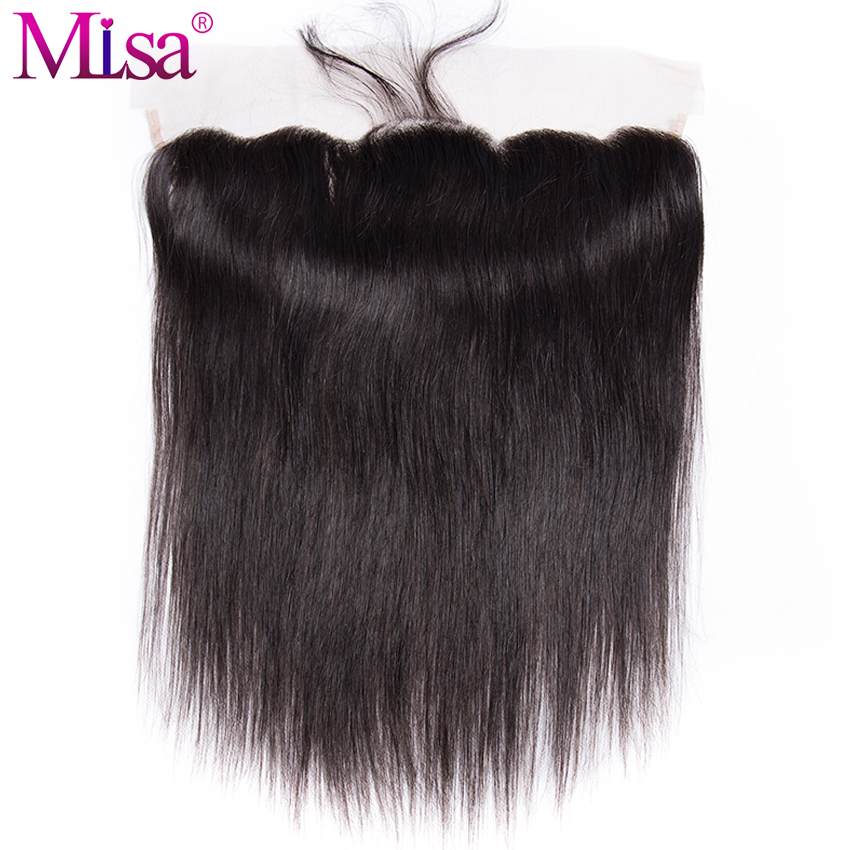 Mi Lisa Hair Malaysian Straight Hair Ear To Ear Lace Frontal Closure 13X 4 With Baby Hair Pre Plucked Remy Human Hair Free Part