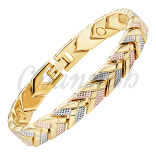 2016 Women 3-Tone Silver Rose Gold 18K Gold Bracelet Magnetic Arrow Bangle Ladies Jewelry Gift Free Shipping via Hong Kong Post