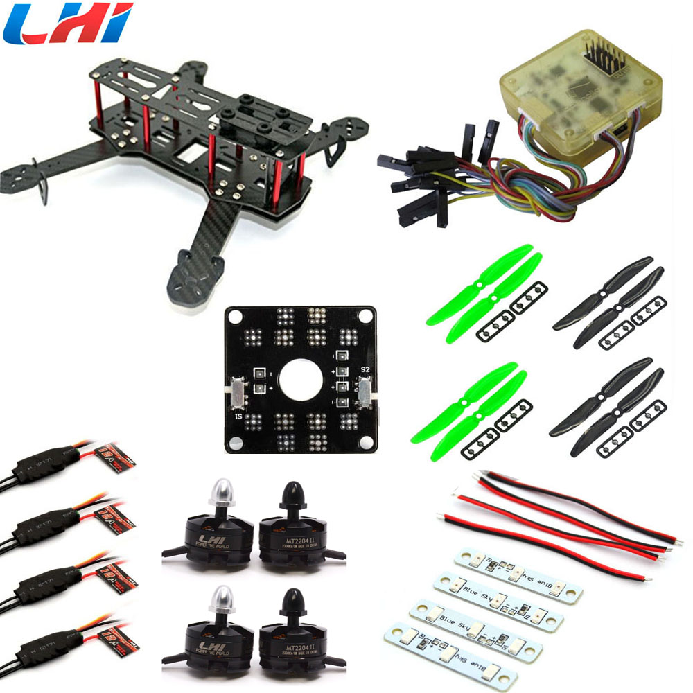 RC plane Carbon Fiber Mini QAV250 C250 Quadcopter LHI 2204 Motor  simonk 12A Esc CC3D Flight Control Prop carbon fiber mini 250 rc quadcopter frame mt1806 2280kv brushless motor for drone helicopter remote control