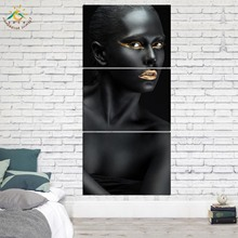 Make Up Black Fashion Picture And Poster Canvas Painting Modern Wall Art Print Pop Art Wall Pictures For Living Room 3 PIECE art and fashion