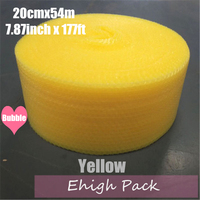 0.2*54m yellow Heart shape Air Bubble Roll Party Favors And Gifts Packing Foam Roll Wedding Decoration Emballage Bulle Warp