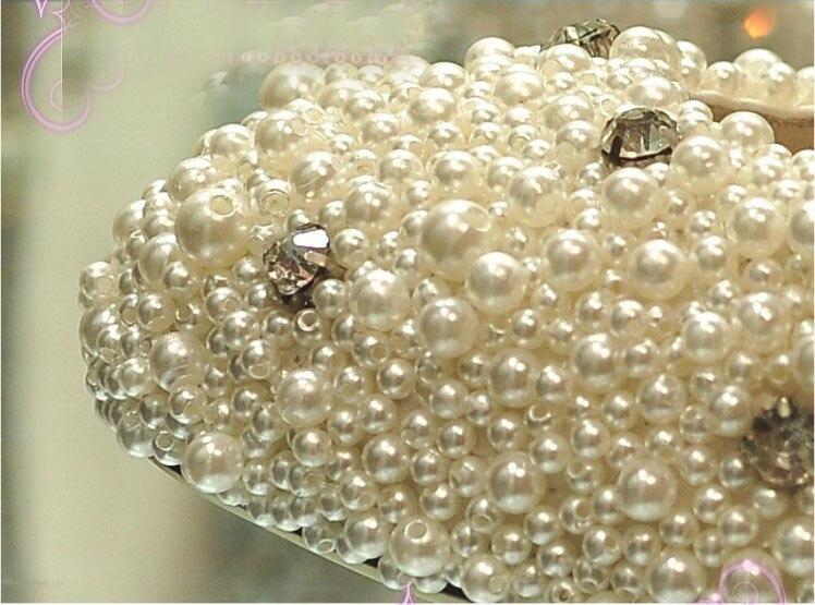 Talon Imitation Supérieure Satin De Soirée Mariage Orteils Stiletto Mode Magnifique Strass Et Perle Fermé Avec Chaussures Mariée UqpwRX