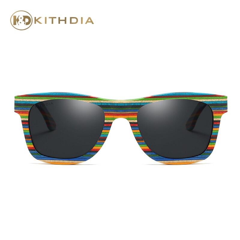 3e58041dd7b48 KITHDIA New 2017 Fashion 100% Handmade Wood Wooden Sunglasses Cute Design  for Men Women gafas de sol steampunk Cool Sun Glasses-in Sunglasses from  Men s ...