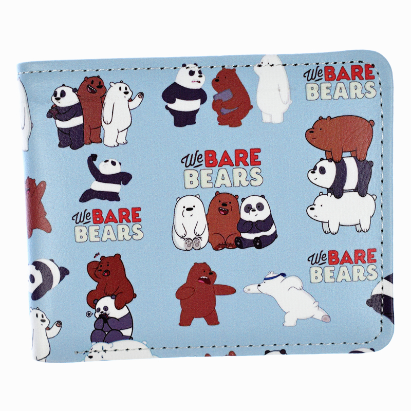 Cartoon We Bare Bears Wallet Grizzly Ice Bear Panda Cute Design Short Wallets for Girls With Coin Pocket 1 5m 3pcs letter print ruffle bed skirt set