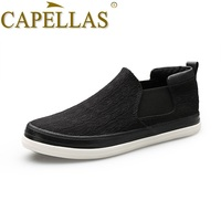 CAPELLAS New Arrival High Quality Men S Brand Shoes Breathable Slip On Fashion Men Casual Canvas