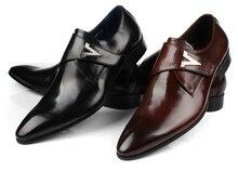 Chegam novas marrom tan/preto escritório sapatos mens sapatos de couro genuíno sapatas de vestido dos homens de negócios sapatos de casamento com fivela