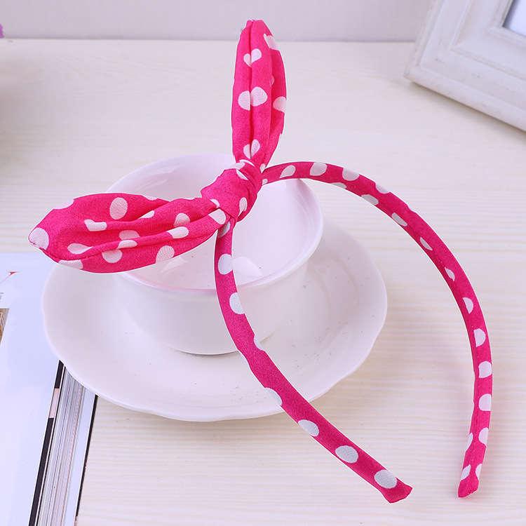 """BLUE NAUTICAL RED ANCHOR PRINT COTTON FABRIC 5/"""" SIDE BOW ALICE HAIR HEAD BAND"""
