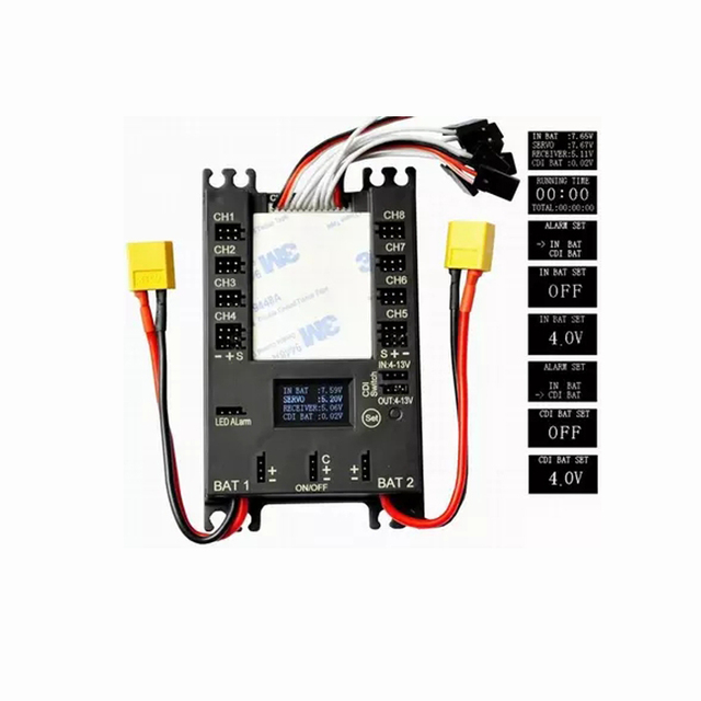 1 Piece RC Hobby Accessories Mini Servo Distribution Board  Section Board  with LED Screen  b5df06f18e77